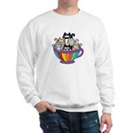 Catpuccino 6 Cats in Cup Sweatshirt