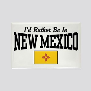 I'd Rather Be In New Mexico Rectangle Magnet