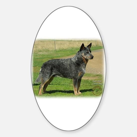 Australian Cattle Dog 9F060D-06 Sticker (Oval)