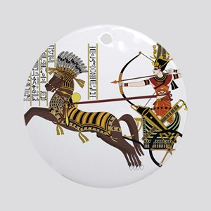 Egyptian queen Round Ornament