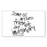 Imaginary Friends Rectangle Sticker 50 pk)