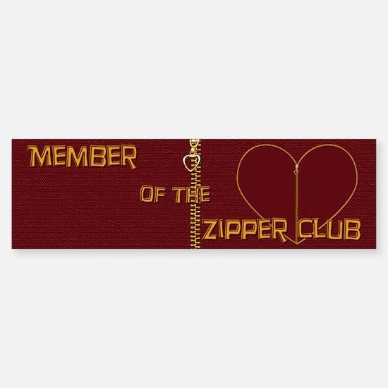 Zipper Club Bumper Bumper Bumper Sticker