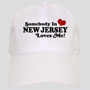 4da0692496363 Somebody in New Jersey Loves Me Cap