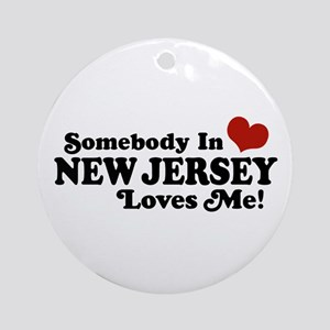 Somebody in New Jersey Loves Me Ornament (Round)