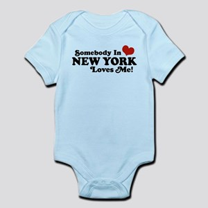 Staten island gifts cafepress somebody in new york loves me infant bodysuit negle Images