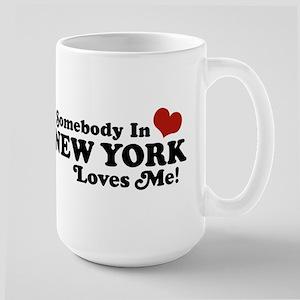 Somebody in New York Loves Me Large Mug