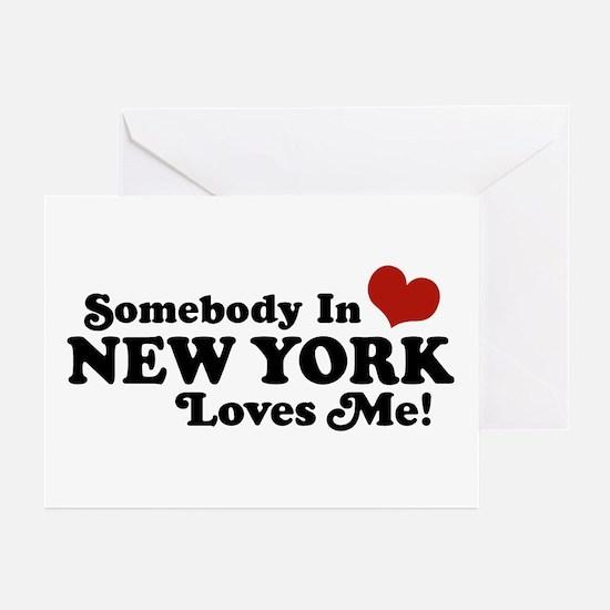 Somebody in New York Loves Me Greeting Cards (Pk o