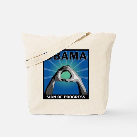 Obama Salute Tote Bag