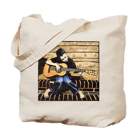 Guitar Boy Tote Bag