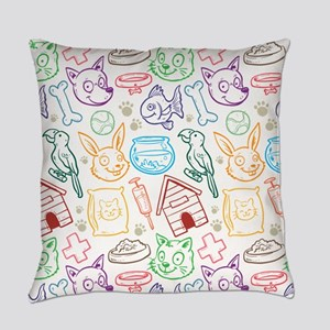 i love pets Everyday Pillow