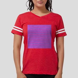 Purple Horizontal Stripes Womens Football Shirt