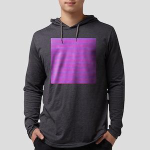 Purple Horizontal Stripes Mens Hooded Shirt