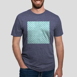 Blue White Checkers Mens Tri-blend T-Shirt