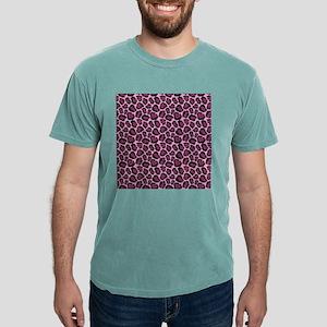 Hot Pink Leopard Print Mens Comfort Colors® Shirt