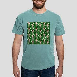 Green Sock Monkey Print Mens Comfort Colors® Shirt