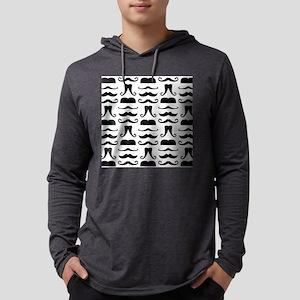 Mustache Print Mens Hooded Shirt