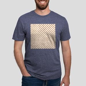Small Sock Monkey Face Print Mens Tri-blend T-Shir