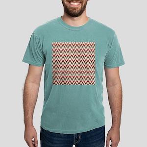 Red Gray Chevron Zigzags Mens Comfort Colors® Shir