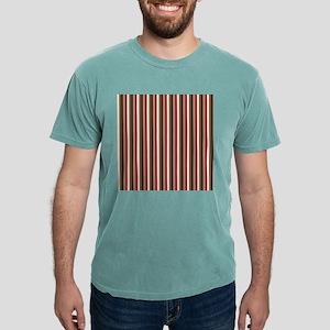 Red Gray Brown Stripes Mens Comfort Colors® Shirt