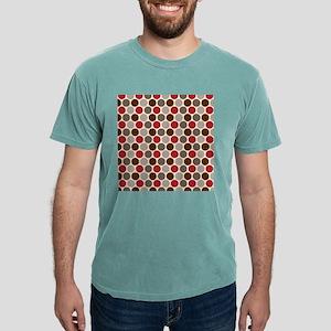 Red Gray Polka Dots Mens Comfort Colors® Shirt