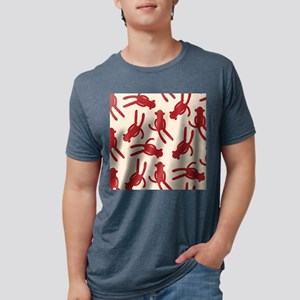 Silhouette Sock Monkey Mens Tri-blend T-Shirt