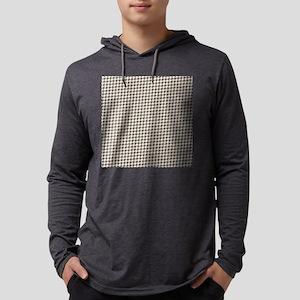 Gray Pattern Mens Hooded Shirt