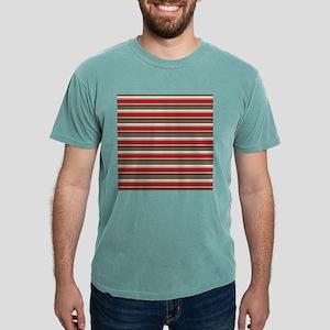 Red Gray Brown Horizontal Stripes Mens Comfort Col