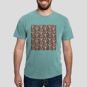 Grey Sock Monkey Print Mens Comfort Colors® Shirt