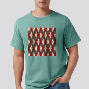 Argyle Red Gray Mens Comfort Colors® Shirt