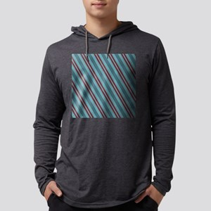 Coastal Diagonal Stripes Mens Hooded Shirt