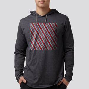 Nautical Sailor Stripes Mens Hooded Shirt