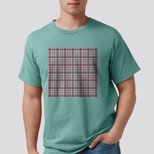Red Purple Green Plaid Print Mens Comfort Colors®