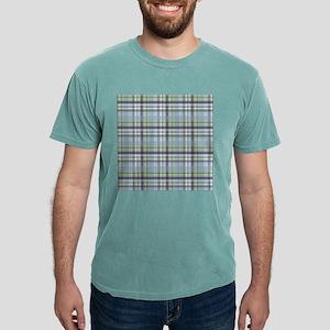 Blue Green Plaid Print Mens Comfort Colors® Shirt