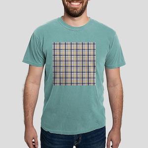 Grey Yellow Plaid Print Mens Comfort Colors® Shirt