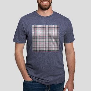 Patriotic Plaid Print Mens Tri-blend T-Shirt