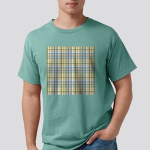 Blue Green Yellow Plaid Print Mens Comfort Colors®