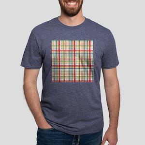 Mountain Plaid Print Mens Tri-blend T-Shirt