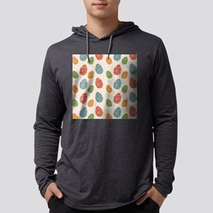 Colored Eggs Print Mens Hooded Shirt