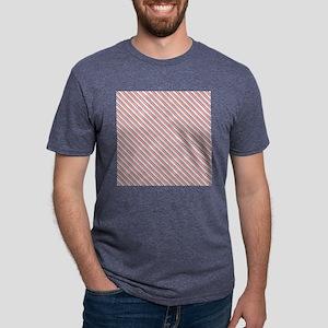 Red Blue Nautical Stripes Mens Tri-blend T-Shirt