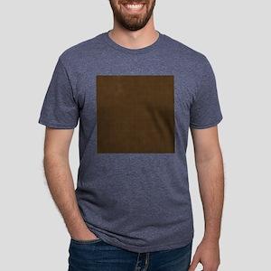 Brown Polka Dot Print Mens Tri-blend T-Shirt