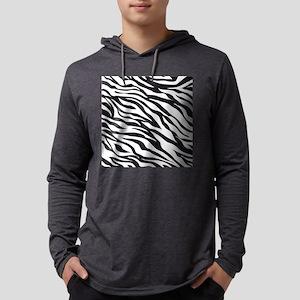 Zebra Animal Print Mens Hooded Shirt