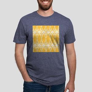 Yellow Damask Mens Tri-blend T-Shirt