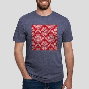 Red Damask Mens Tri-blend T-Shirt