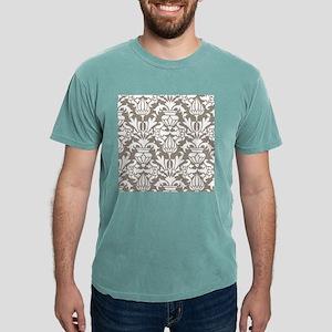 Dark Beige Damask Mens Comfort Colors® Shirt