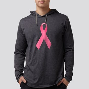 Breast Cancer Awareness Ribbon Mens Hooded Shirt
