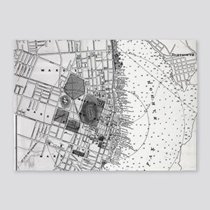 Vintage Map of Halifax Nova Scotia 5'x7'Area Rug