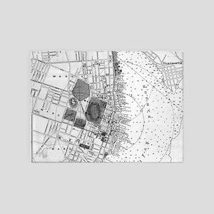 Vintage Map of Halifax Nova Scotia 5'x7'Area Rug