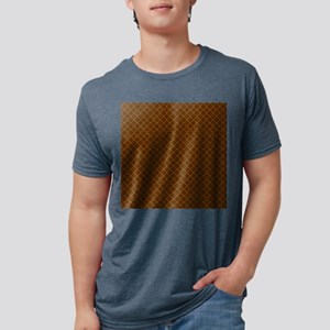 Small Autumn Quat Print Mens Tri-blend T-Shirt