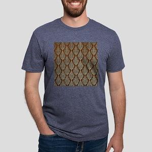 Brown Damask Mens Tri-blend T-Shirt