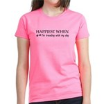 Happiest when traveling wi Women's Classic T-Shirt